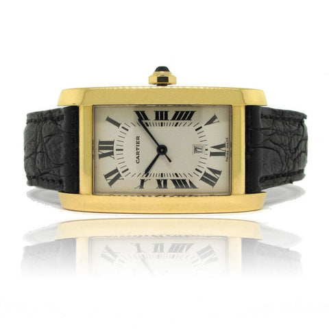 Cartier 18k Yellow Gold Tank Americane yr 2003