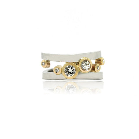 14k White and Yellow Gold Diamond Ring