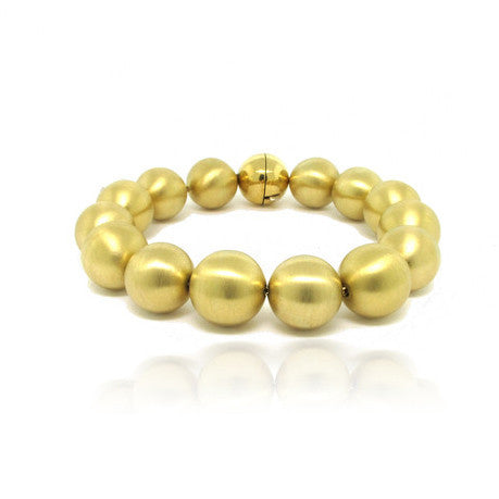 18k Yellow Gold Sphere Bracelet