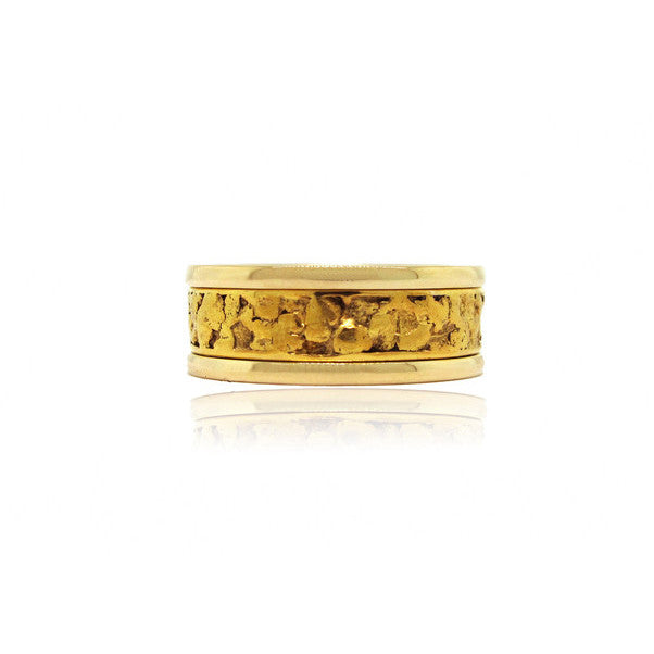 Yellow Gold Nugget Ring