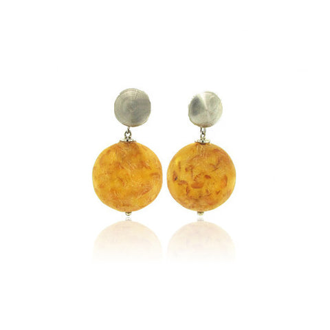 Amber Ball Earring