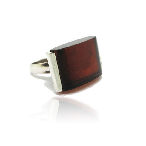 Sterling Sillver Amber Ring