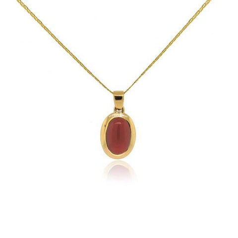 14k Yellow Gold and Morro Coral Pendant