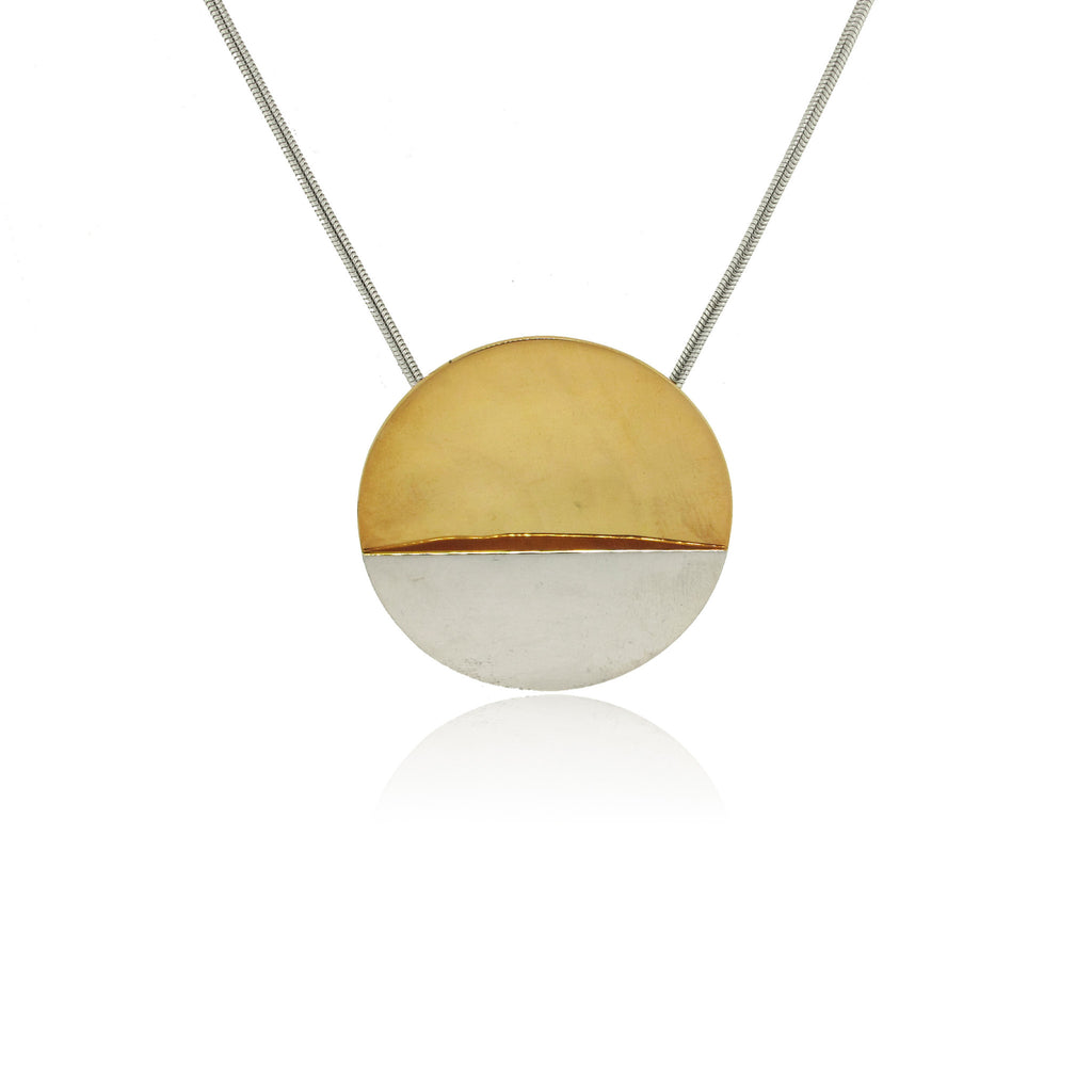 Sterling Silver and Yellow Gold Plated Sunset Pendant