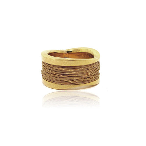 14k Yellow Gold Wild Wire Ring
