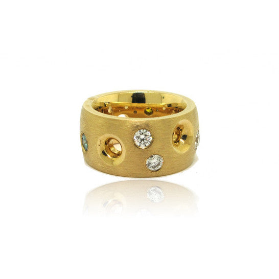 14k Yellow Gold Galaxy Ring