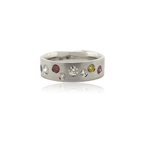 Multi Coloured Diamond Ring