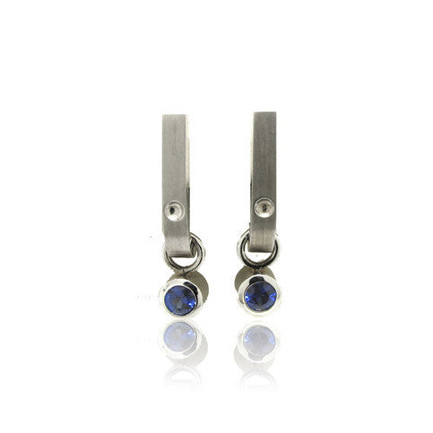 14k White Gold Combo Jacket Earrings
