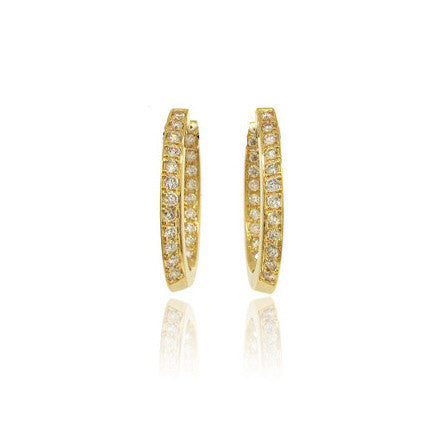 14k Yellow Gold Peek-a-Boo Diamond Earrings