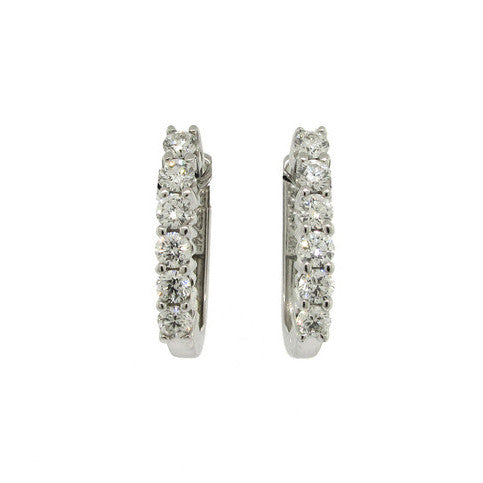 14k White gold Claw Set Diamond Earrings