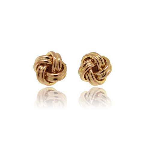 14k Yellow Gold Love Knot Earring