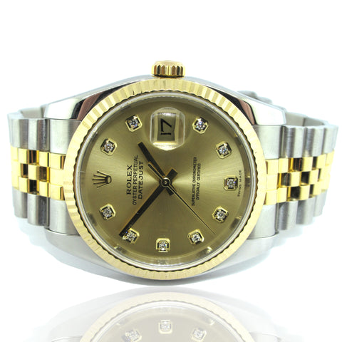 Rolex Datejust with Diamond Dial Yr 2006