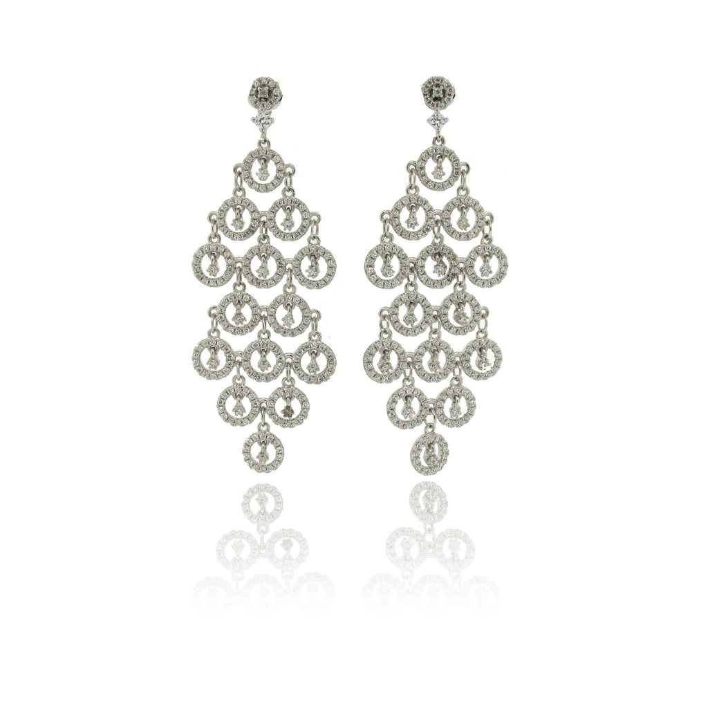 Sterling Silver and CZ Earring