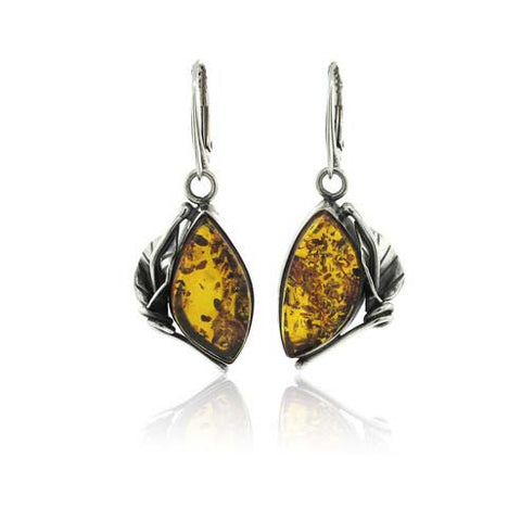 Sterling Silver and Amber Calla Lily Earring