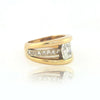 14K Y/G Radiant Cut Diamond Ring