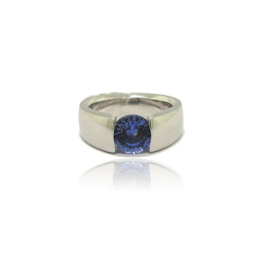 Blue Sapphire Tension Ring