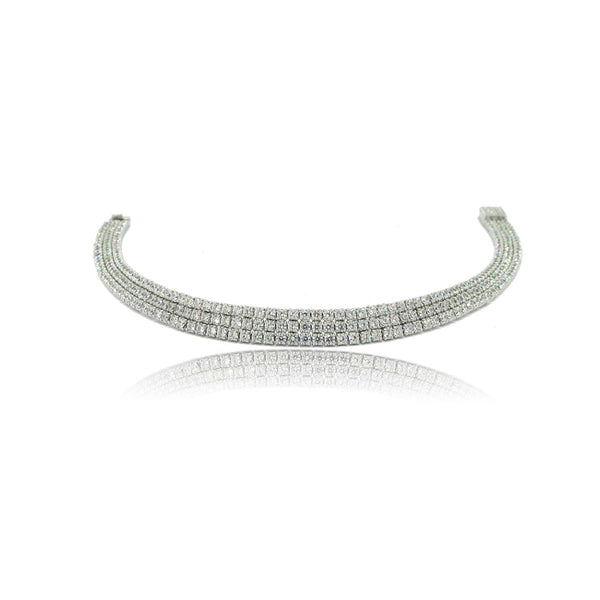 Sterling Silver and CZ Frost Bracelet