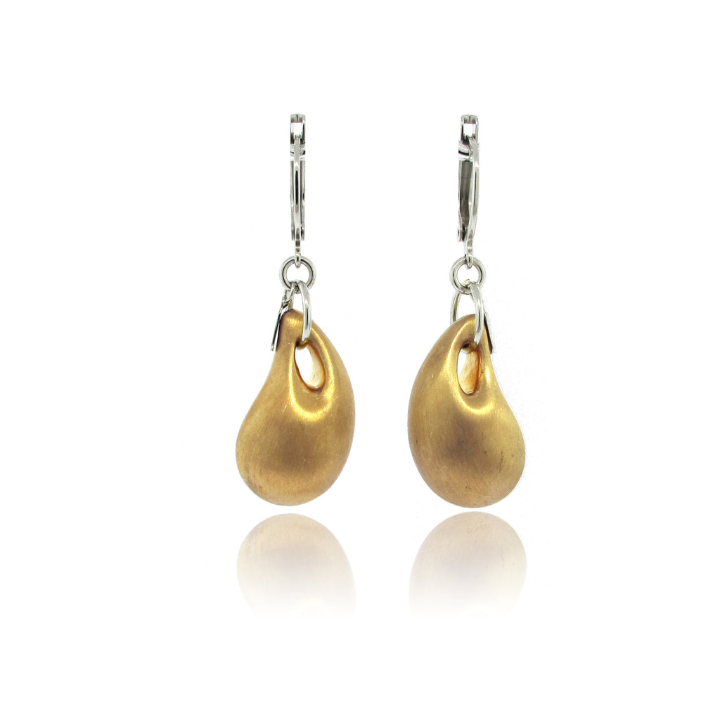 Sterling Silver and 10k Gold Plated Bubble Earrings