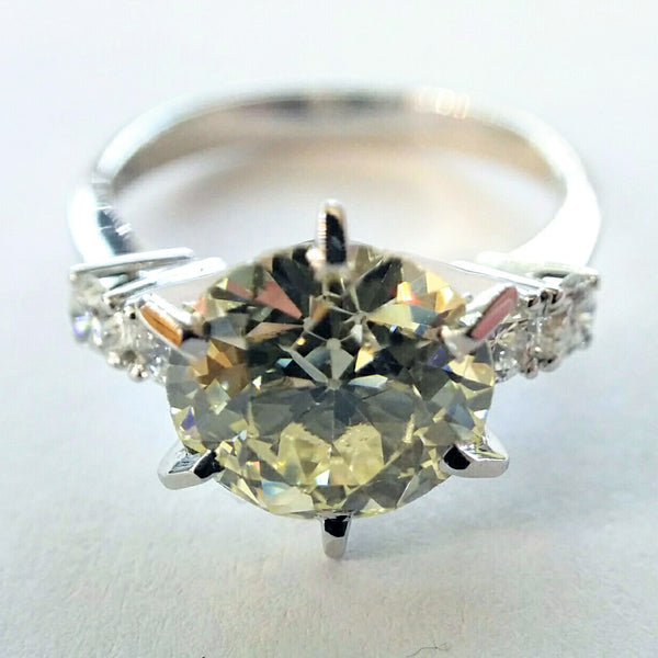 Canary Diamond with White Diamond