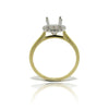 14k Yellow and White Gold Halo Ring