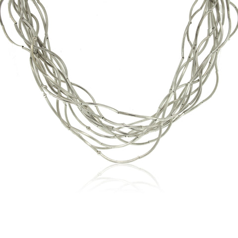 Sterling Wave Necklace