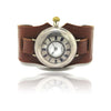 Early Omega Half Hunter Silver Trench Art Watch