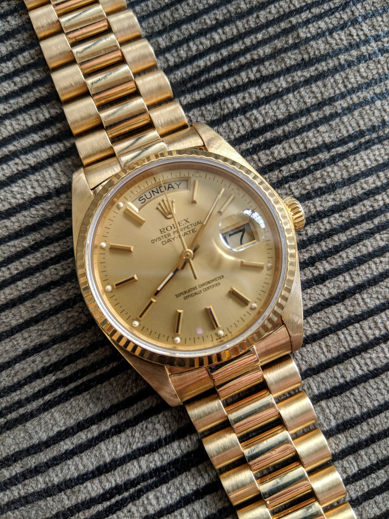 18K Yellow Gold Rolex Day-Date President 18038