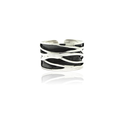 Sterling Silver Cut-out Ring