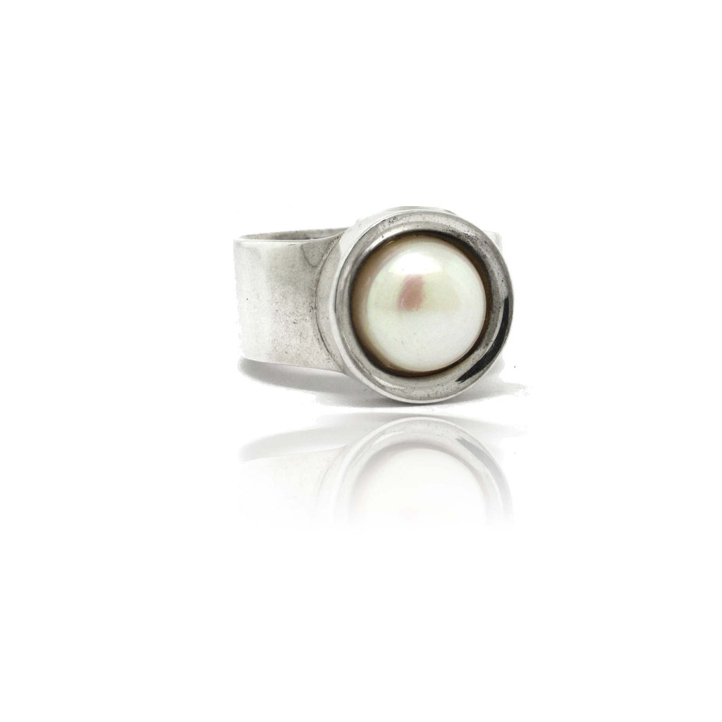 Sterling Silver Mabe Pearl Ring
