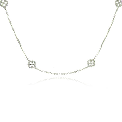 Sterling Silver and CZ Chain