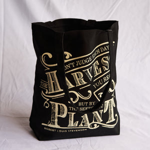 Black Harvest Tote Bag
