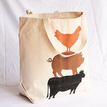 Load image into Gallery viewer, Farm Animal Tote Bag