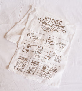 Measurement Tea Towel