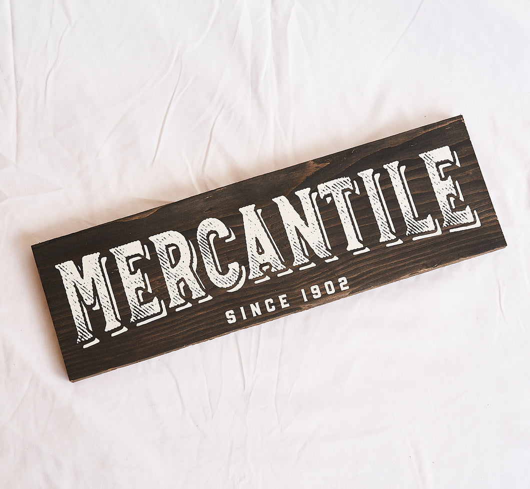 Mercantile Wood Wall Plaque