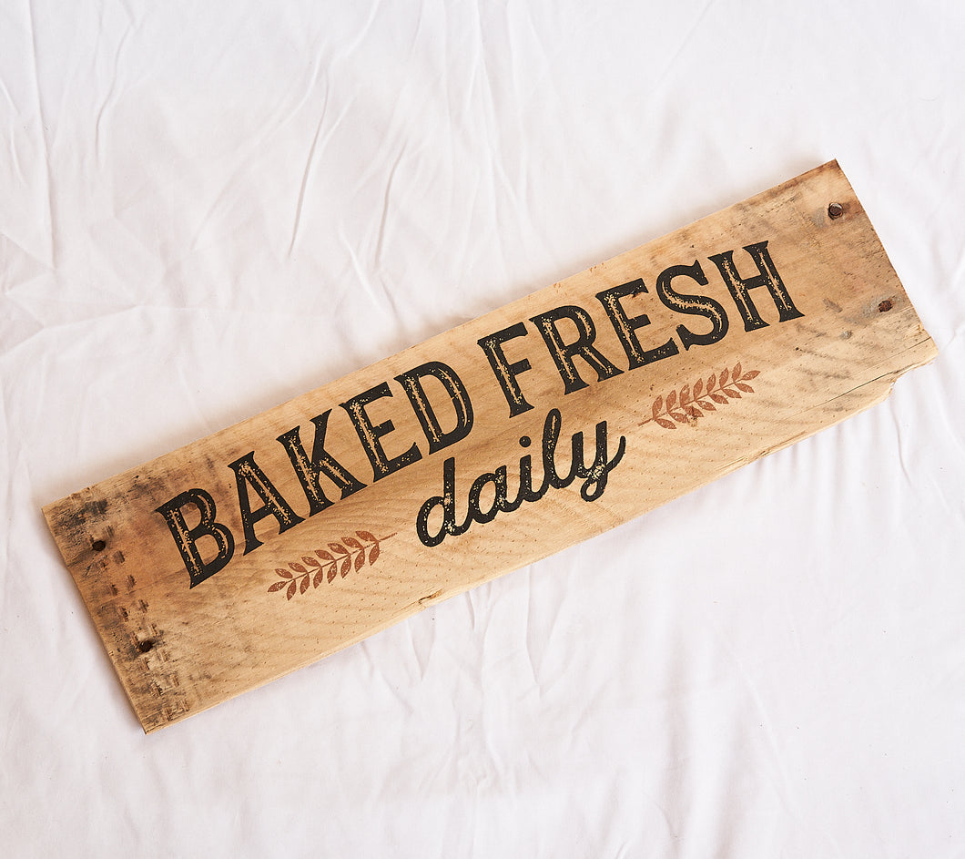 Baked Fresh Wooden Wall Plaque