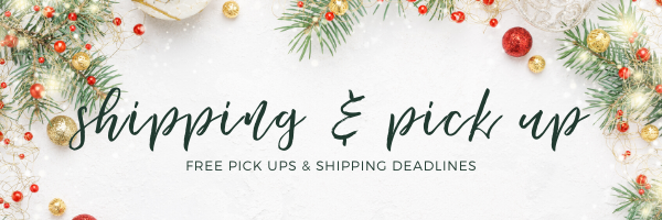 shipping deadlines and pickup options