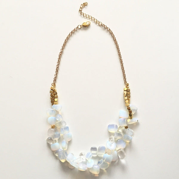 Opal Nugget Statement Necklace - Alexandra Kathlyn Accessories - 1