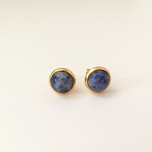 Blue Spot Studs - Alexandra Kathlyn Accessories - 1
