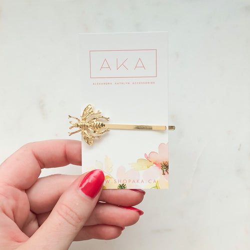 Bee Bobby Pin-Hair Accessories-Alexandra Kathlyn Accessories
