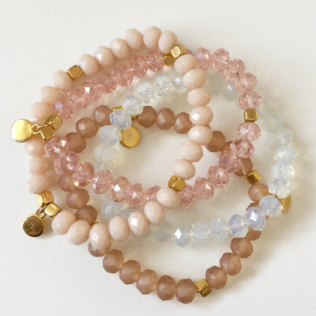 Peach Sparkle Bracelet - Alexandra Kathlyn Accessories - 2