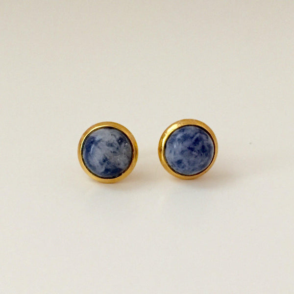 Blue Spot Studs - Alexandra Kathlyn Accessories - 2