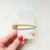 Gold Triangle Bar Clip-Hair Accessories-Alexandra Kathlyn Accessories
