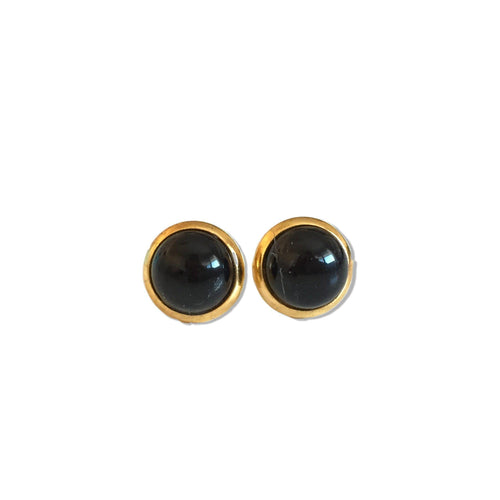 Black Agate Studs - Alexandra Kathlyn Accessories  - 2