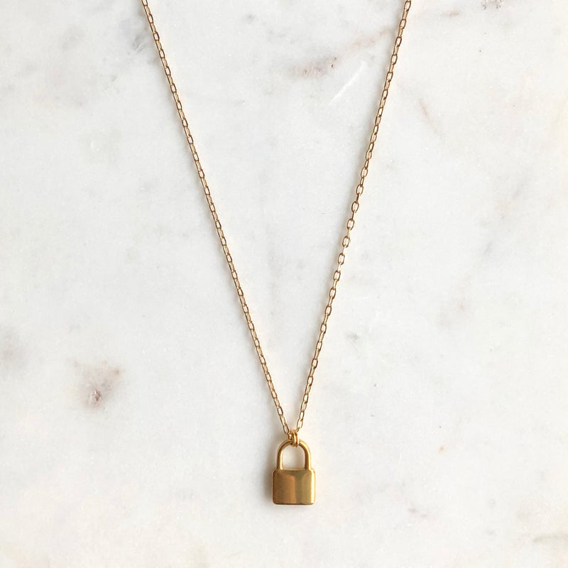 Lock Necklace-Necklace-Alexandra Kathlyn Accessories