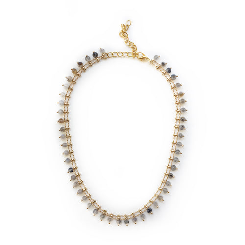 Grey Agate Beaded Necklace - Alexandra Kathlyn Accessories