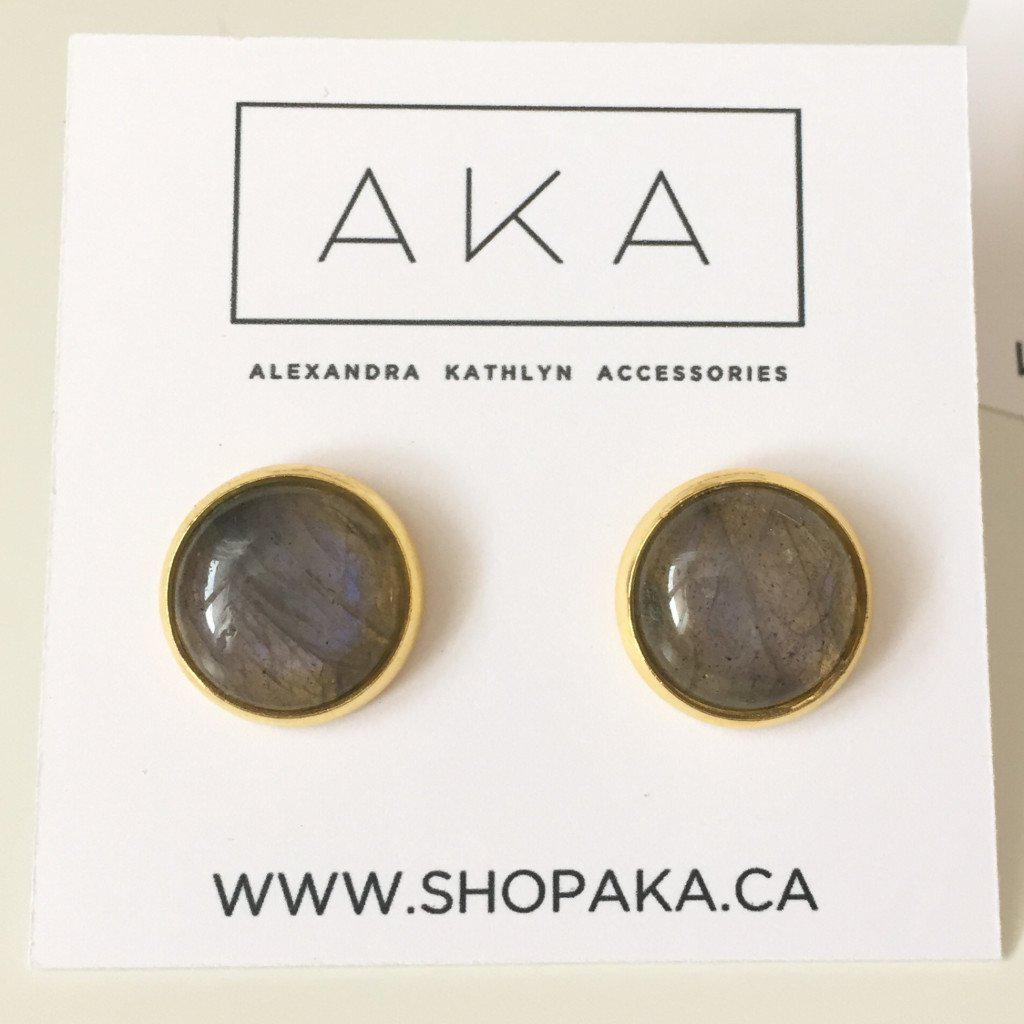 Labradorite Stud Earrings - Alexandra Kathlyn Accessories  - 4