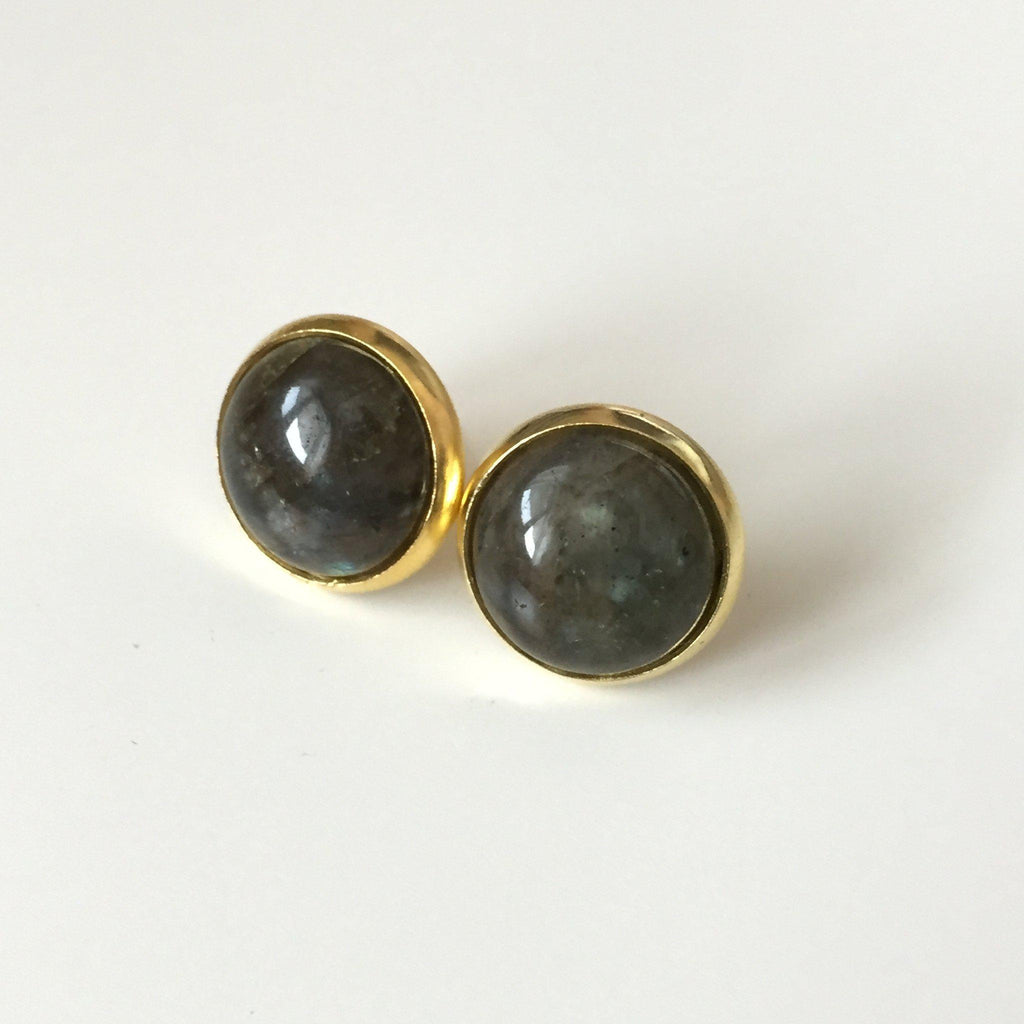 Labradorite Stud Earrings - Alexandra Kathlyn Accessories  - 3