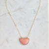 The Arc Necklace - Coral Jade
