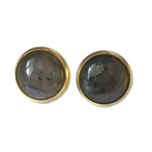 Labradorite Stud Earrings - Alexandra Kathlyn Accessories  - 1