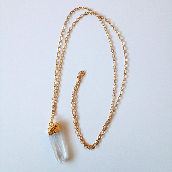 Iridescent Quartz Necklace - Alexandra Kathlyn Accessories - 2